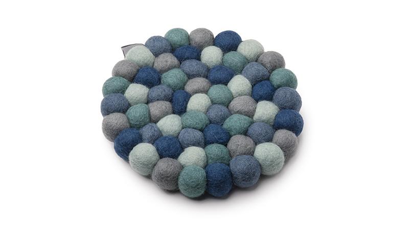 Gryteunderlag fra molekule: Blå/grønn