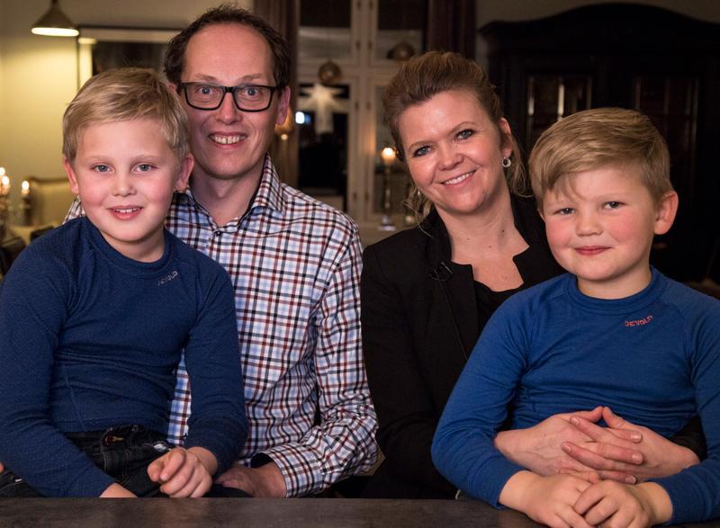 Familien Jeksrud er Planfaddere. Fra venstre: Petter, Kristian, Elin og Mikkel