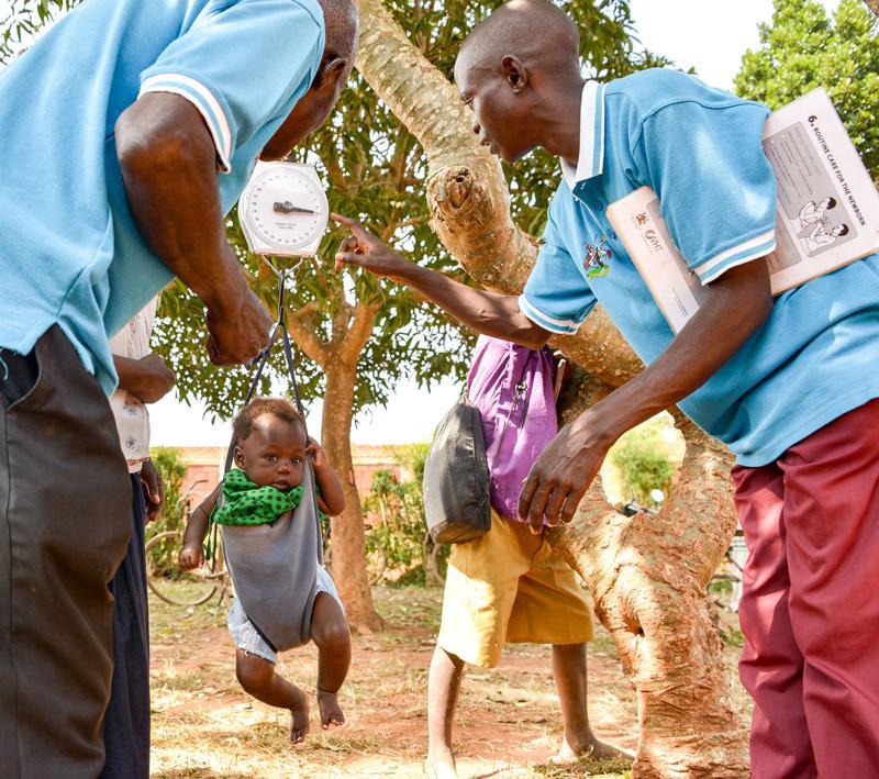 Frivillige fra Village Health Team (VHT), Uganda.