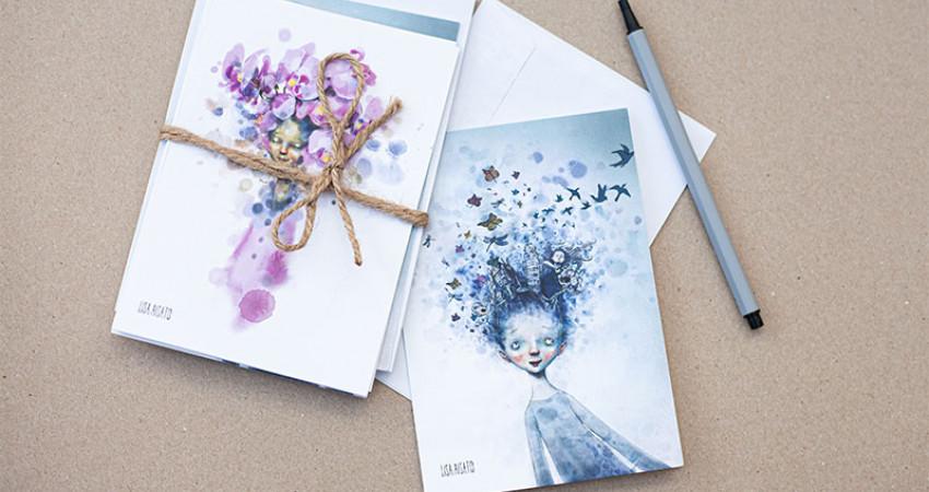 Gaver med mening: Lisa Aisato-kort. Foto.