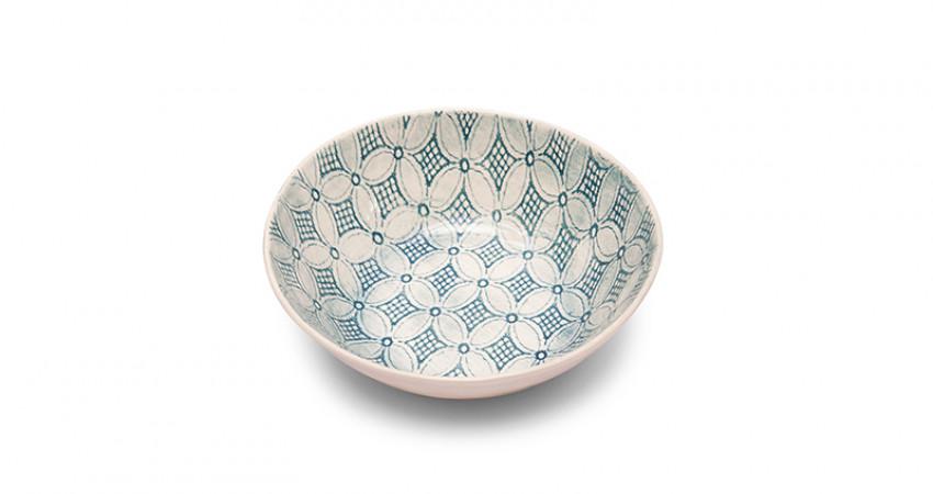 Julegave med mening: Stor blågrønn keramikkskål, Wonki Ware. Foto.