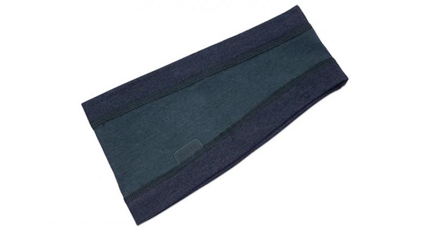 Julegave med mening: Tufte Wear, blått pannebånd. Foto.